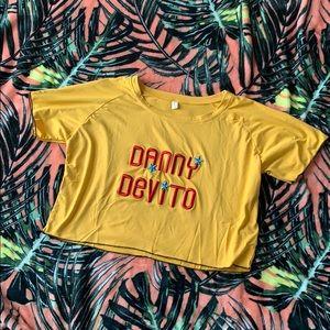DANNY DEVITO Yellow Crop Top Size L NEW